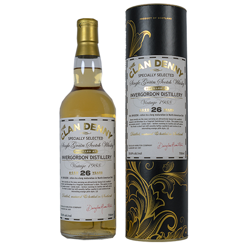 Invergordon 1988 Clan Denny Grain Whisky 26 år