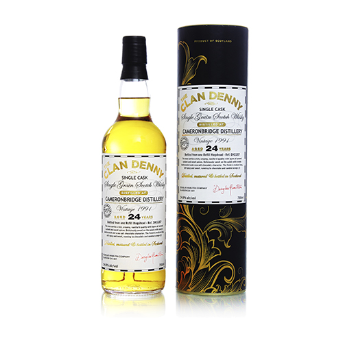 Cameronbridge 1991 Grain Whisky 24 år Clan Denny