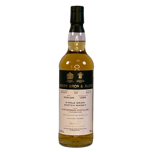 Invergordon 1988 Grain Malt Whisky - Berry's Own