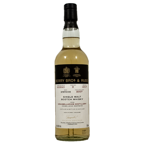 Craigellachie 2007 single malt 9 år  - Berry`s Own