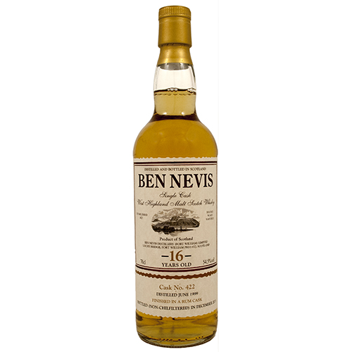 Ben Nevis Single Cask 16 år Rum Finished PJ