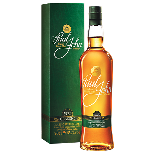Paul John Classic single malt whisky c.s.