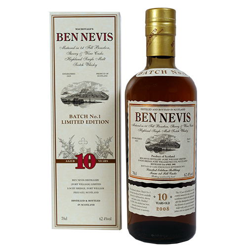 Ben Nevis single malt c.s. 10 år Triple Cask 1st Batch