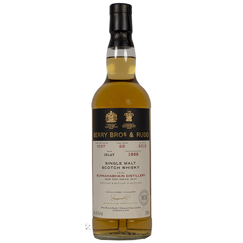 Bunnahabhain 1989 single malt 28 år Berry's